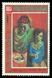 Matka i syn Picasso Obrazy Royalty Free