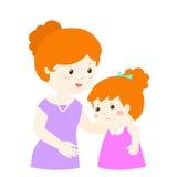 Matka koi płacz córki ilustracja wektor