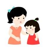 Matka koi płacz córki miła mama koi ilustracji
