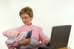 matka pracuje obraz stock