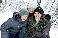 Matka, syn i córka zdjęcie stock