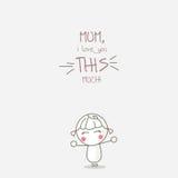 Matka szczęśliwy dzień Zdjęcia Royalty Free