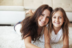 Matka z córką Obrazy Royalty Free
