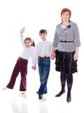 Matka z dziećmi zdjęcie royalty free