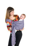Matka z dzieckiem w temblaku zdjęcie royalty free