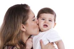 Matka z dziecko jej synem obrazy royalty free