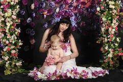 Matka z jej córkami Zdjęcie Royalty Free