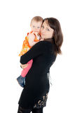 Matka z małą córką Zdjęcia Royalty Free