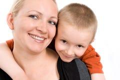 Matka z małym synem Zdjęcia Stock