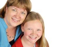 matka zbliżenie córkę Zdjęcia Royalty Free