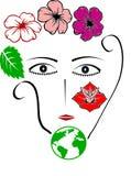 Matka ziemia - kobieta środowisko Ilustracji
