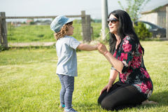 Matki i berbecia podmuchowy dandelion Obraz Stock