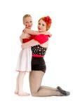 Matki i córki Cyrkowego tancerza wykonawcy fotografia royalty free