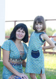 Matki i córki ono uśmiecha się Obraz Stock