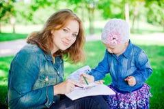 Matki i córki rysunek obraz royalty free