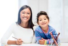 Matki i córki rysunek Fotografia Stock