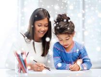 Matki i córki rysunek Zdjęcia Royalty Free