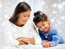 Matki i córki rysunek Obrazy Stock