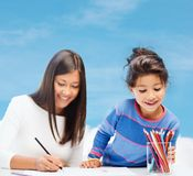 Matki i córki rysunek Zdjęcie Stock