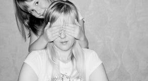 Matki i córki sztuki quess który Zdjęcia Stock
