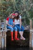Matki i córki więzi uczuciowa aktywność obraz royalty free