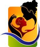 Matki i dziecka logo ilustracja wektor