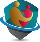 Matki i dziecka logo ilustracji