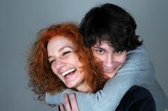 Matki i nastolatka syn Zdjęcia Stock
