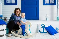 Matki i syna żeglarzi fotografia royalty free