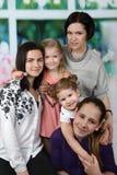 Matkuje z cztery córek portretem zdjęcia stock