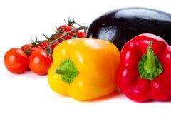 matlagning över vita grönsaker Arkivfoto