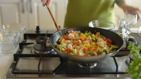matlagning stock video