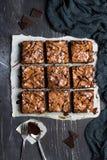 Matlagning för hemlagade bakelser för paj för stycke för chokladnissekaka söt Arkivbilder