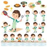 Matlagning för blazer för gräsplan för skolapojke Royaltyfria Bilder
