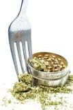 Matlagning med medicinsk och fritids- drogbransch för marijuana, i Amerika Royaltyfria Bilder