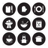 Matlagning- och köksymboler Arkivfoto