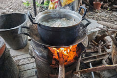 Matlagning på ugnen Fotografering för Bildbyråer