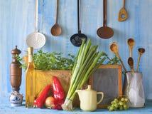 Matlagning recept, mat Arkivbilder