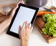 Matlagning, teknologi och hem- begrepp Arkivbilder
