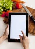 Matlagning, teknologi och hem- begrepp Royaltyfria Foton