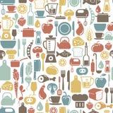 Matlagningbakgrund royaltyfri illustrationer
