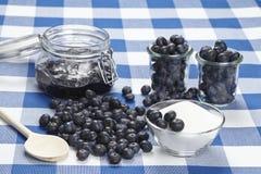 Matlagningblåbärdriftstopp Arkivbild