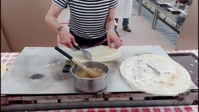 Matlagningborlenghi Typisk italiensk mat lager videofilmer