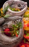 matlagninghake förberedde unga grönsaker arkivfoton