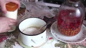 Matlagninghonungprov lager videofilmer