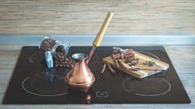 Matlagningkaffe Royaltyfri Bild