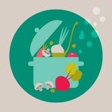 Matlagningkort royaltyfri illustrationer