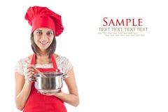 matlagningkvinna Arkivbild