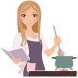 Matlagningkvinna Royaltyfria Foton