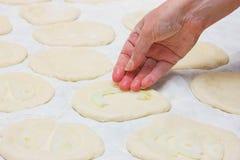 matlagningpizza Fotografering för Bildbyråer